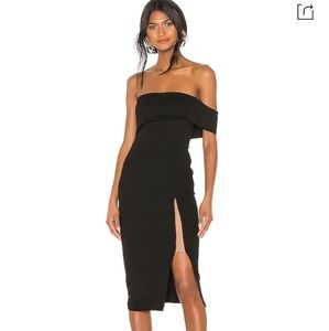 Michael costello x rev off shoulder Audrey dress